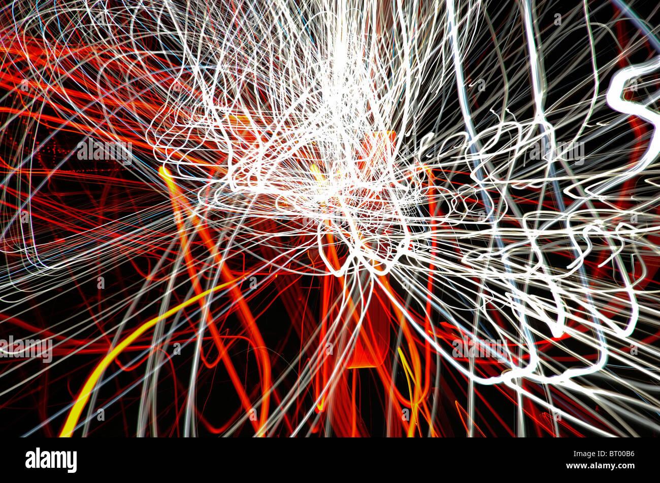 Motifs de lumière abstraite Banque D'Images