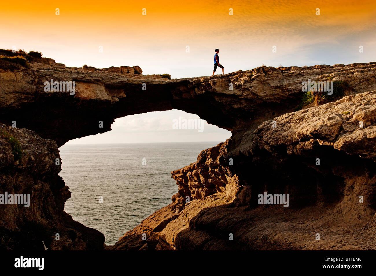 Puente del Diablo en Santander Cantabrie España Pont du Diable à Santander Cantabrie Espagne Photo Stock