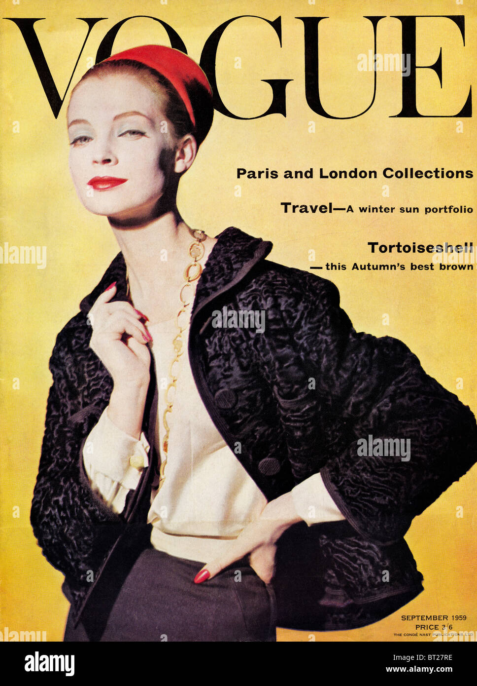 Couverture de magazine de mode VOGUE Septembre 1959 au prix