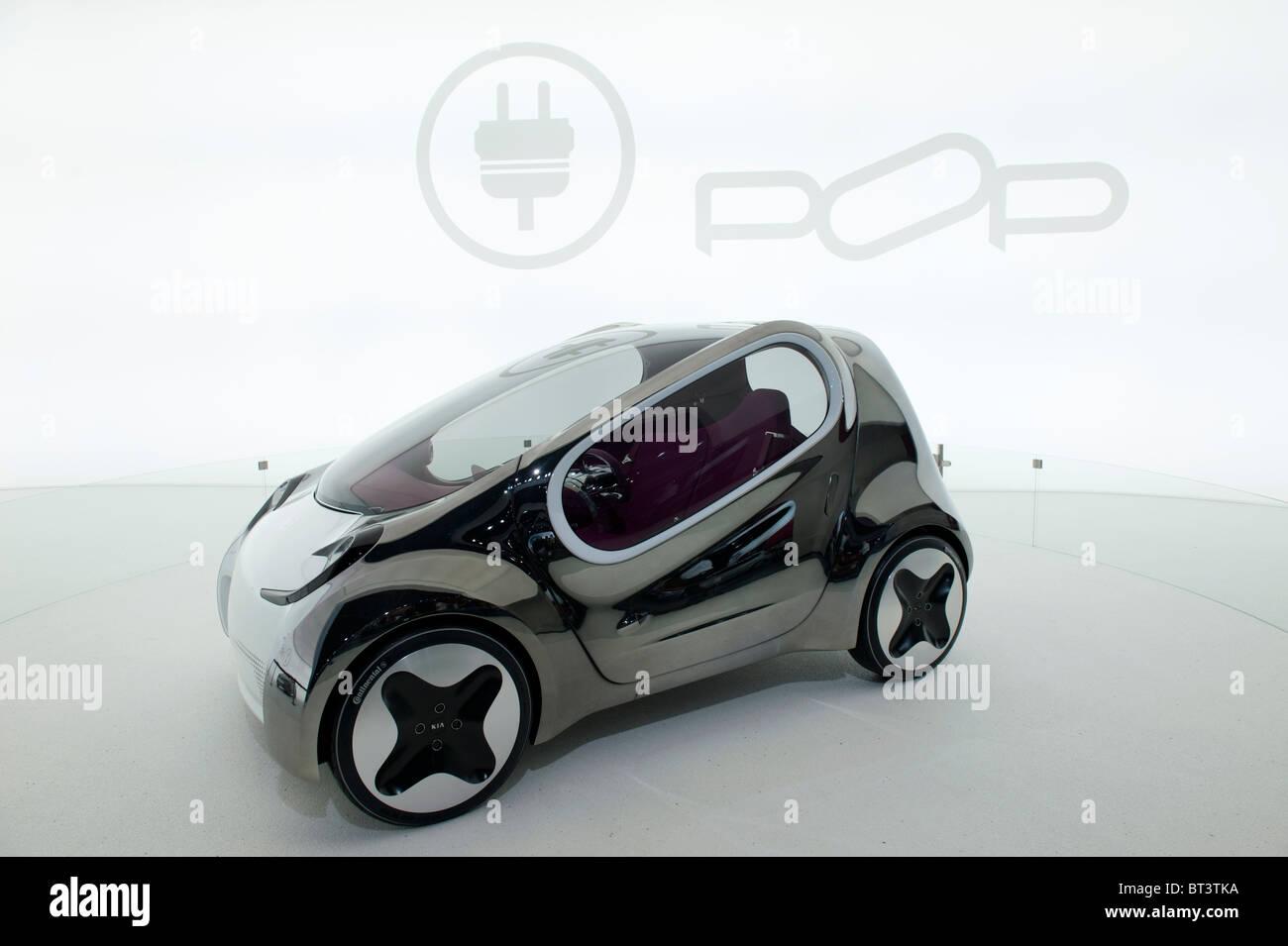 Kia Pop concept électrique voiture à Paris Motor Show 2010 Photo Stock