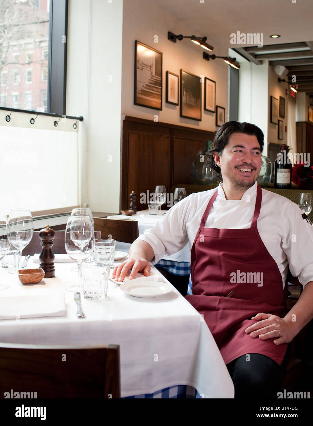 Portrait of Chef Nick Anderer au Restaurant Maialino Photo Stock