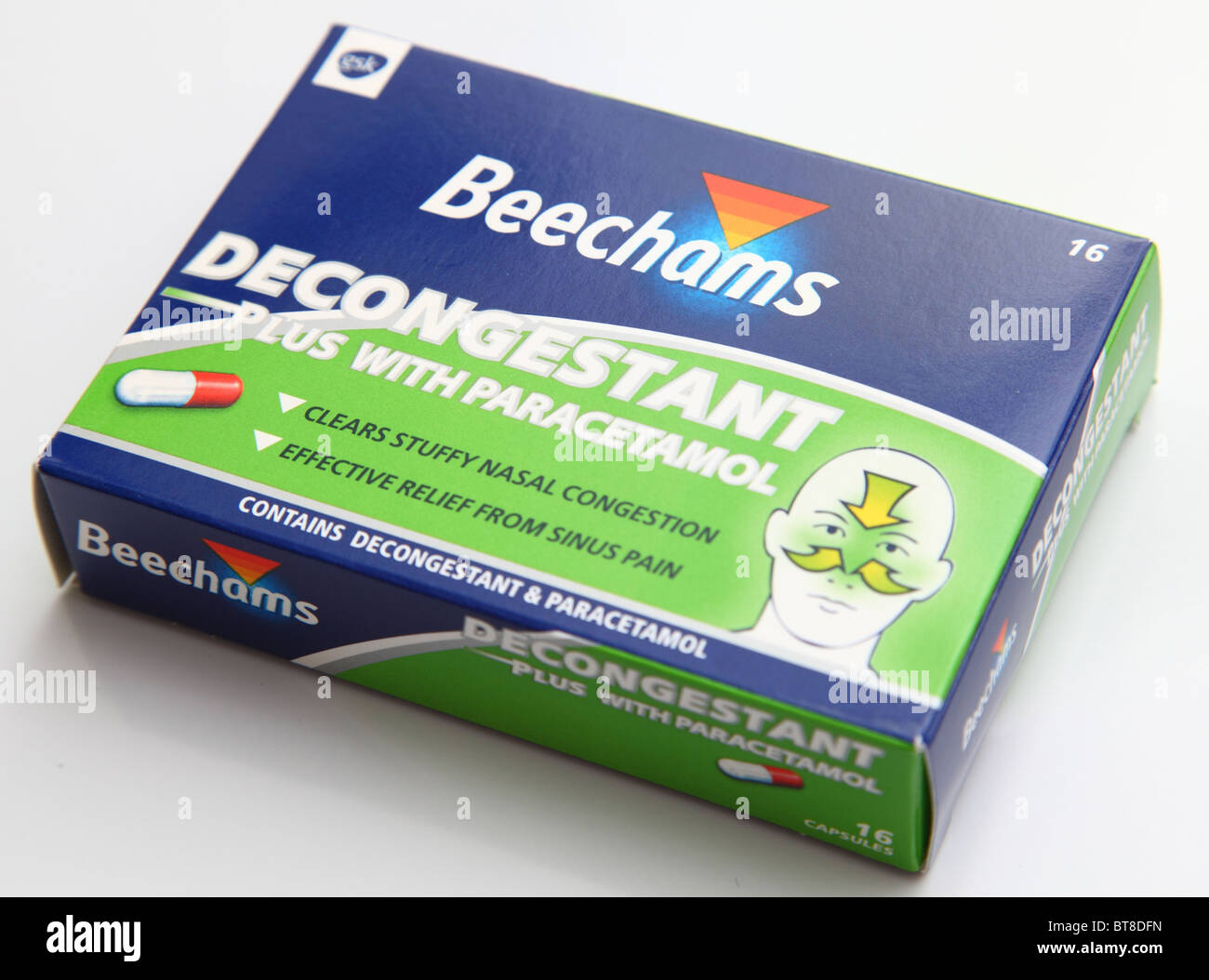 Beechams décongestionnant avec paracétamol médicament. Photo Stock