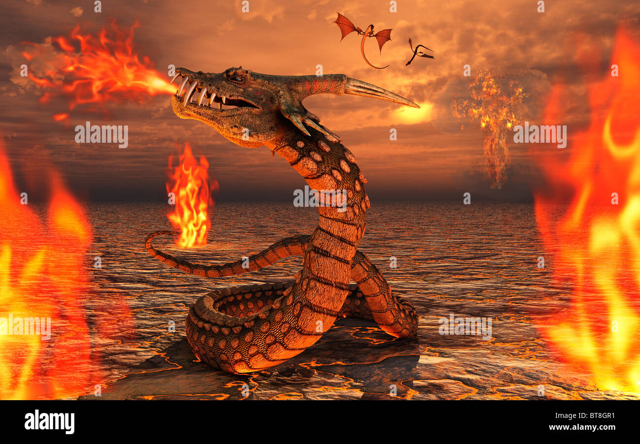 Dragons de serpent Banque D'Images
