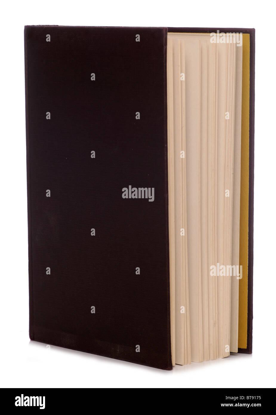 Vieux livre isolé sur fond blanc Photo Stock