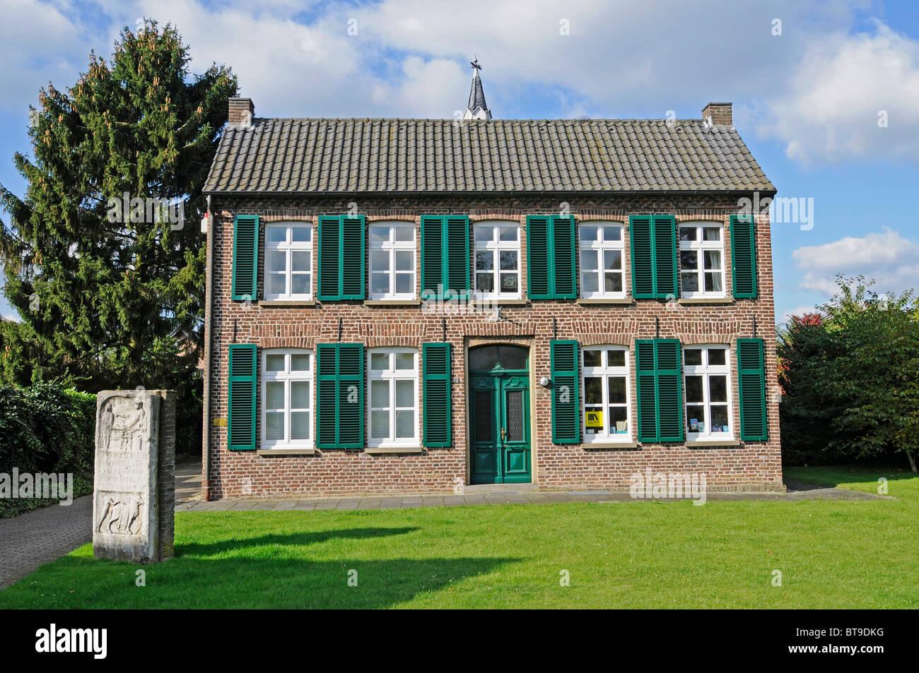 Bibliothèque catholique, monument, lieu de pèlerinage, de Marienbaum, Xanten, Bas-rhin, Nordrhein-Westfalen, Germany, Europe Banque D'Images