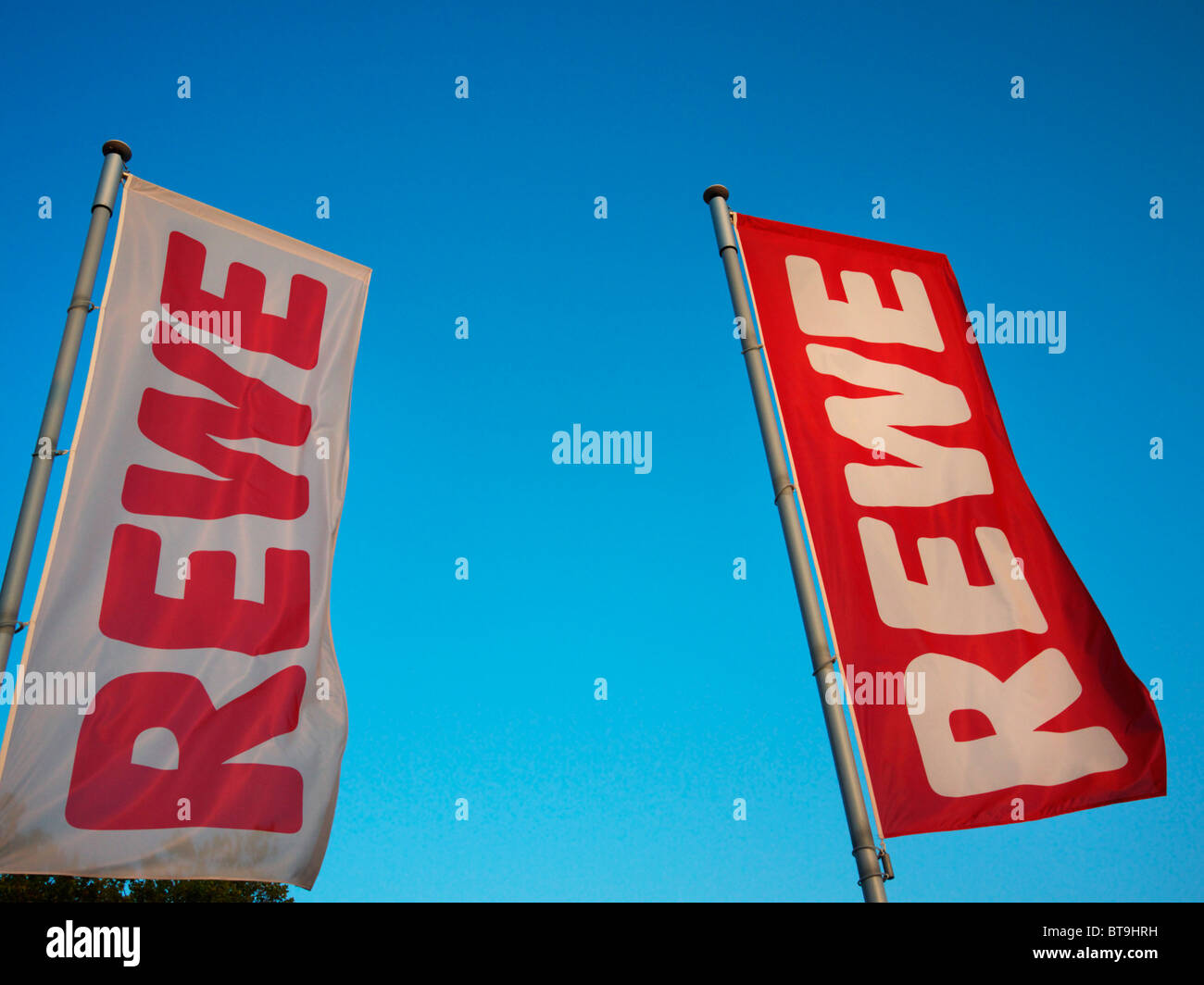 Détaillant allemand Rewe Photo Stock