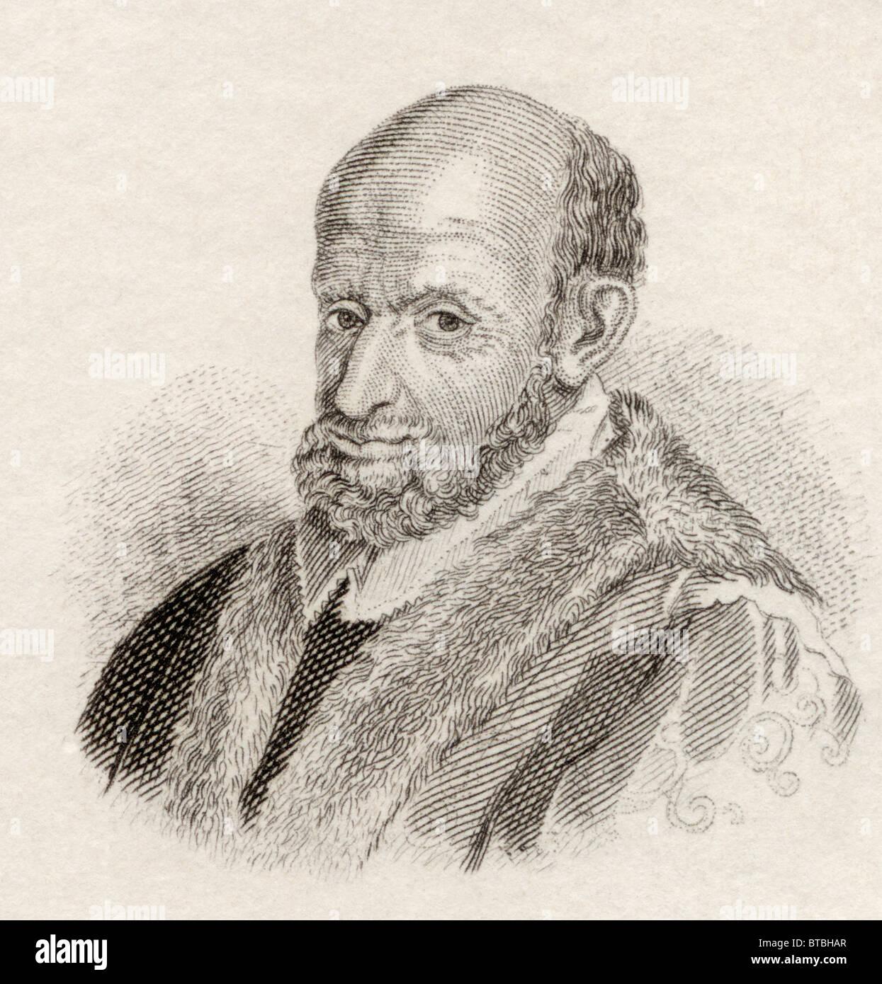 Geronimo, ou Girolamo Mercuriali, ou Hieronymus Mercurialis Mercuriale aka, 1530 à 1606. Philologue italien Photo Stock