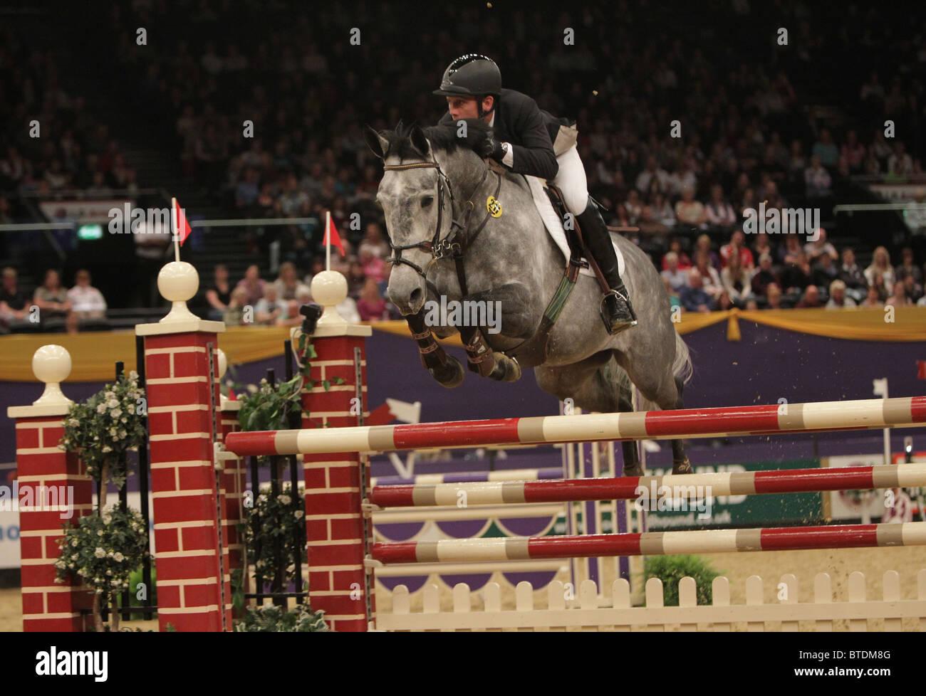 Horse Show de l'année, gris cheval, cso Photo Stock
