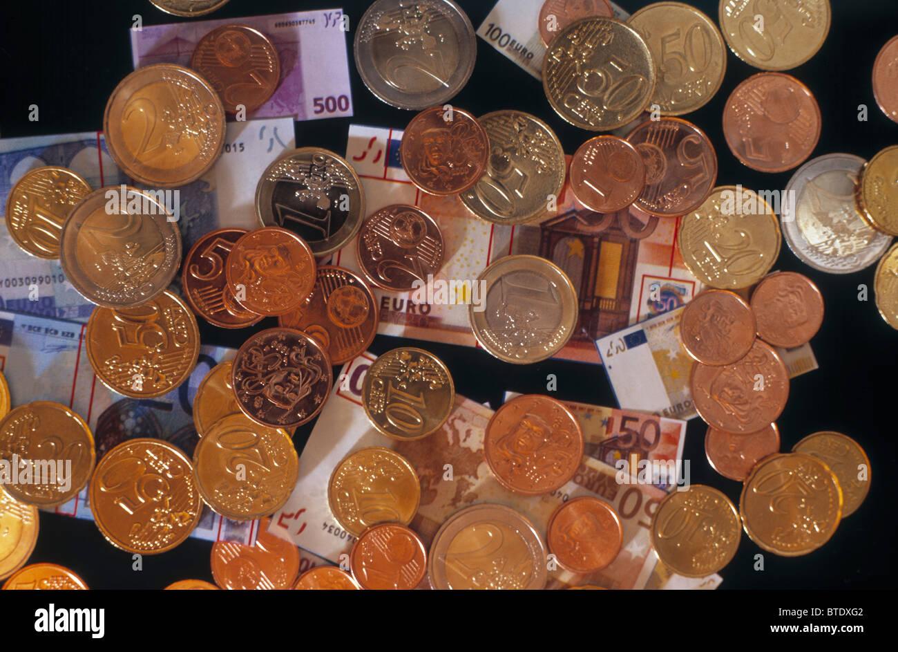 Monnaie, financiers, d'Euros Banque D'Images