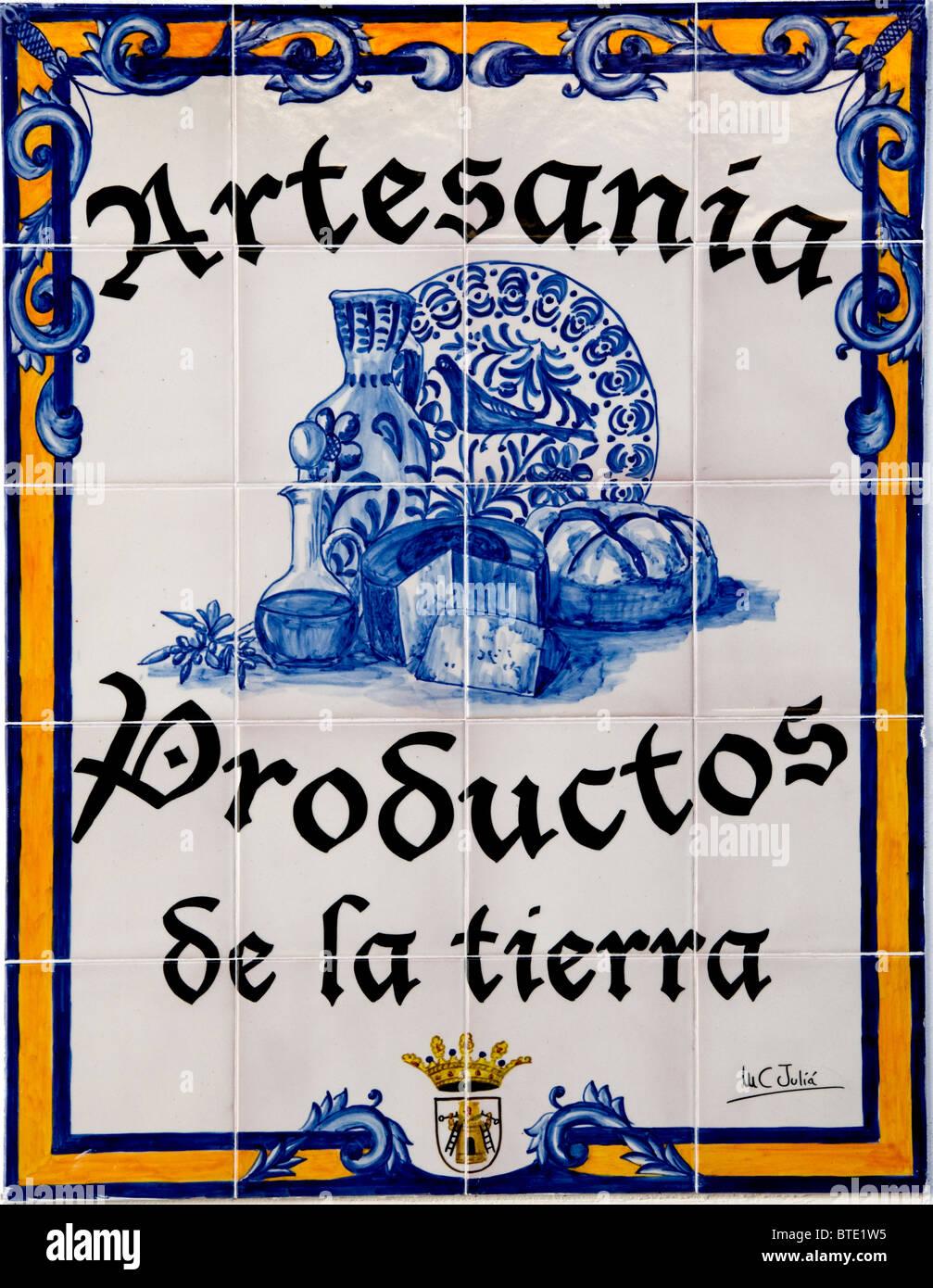 Faïence Céramique design artisanat d'art Espagnol Espagne Banque D'Images