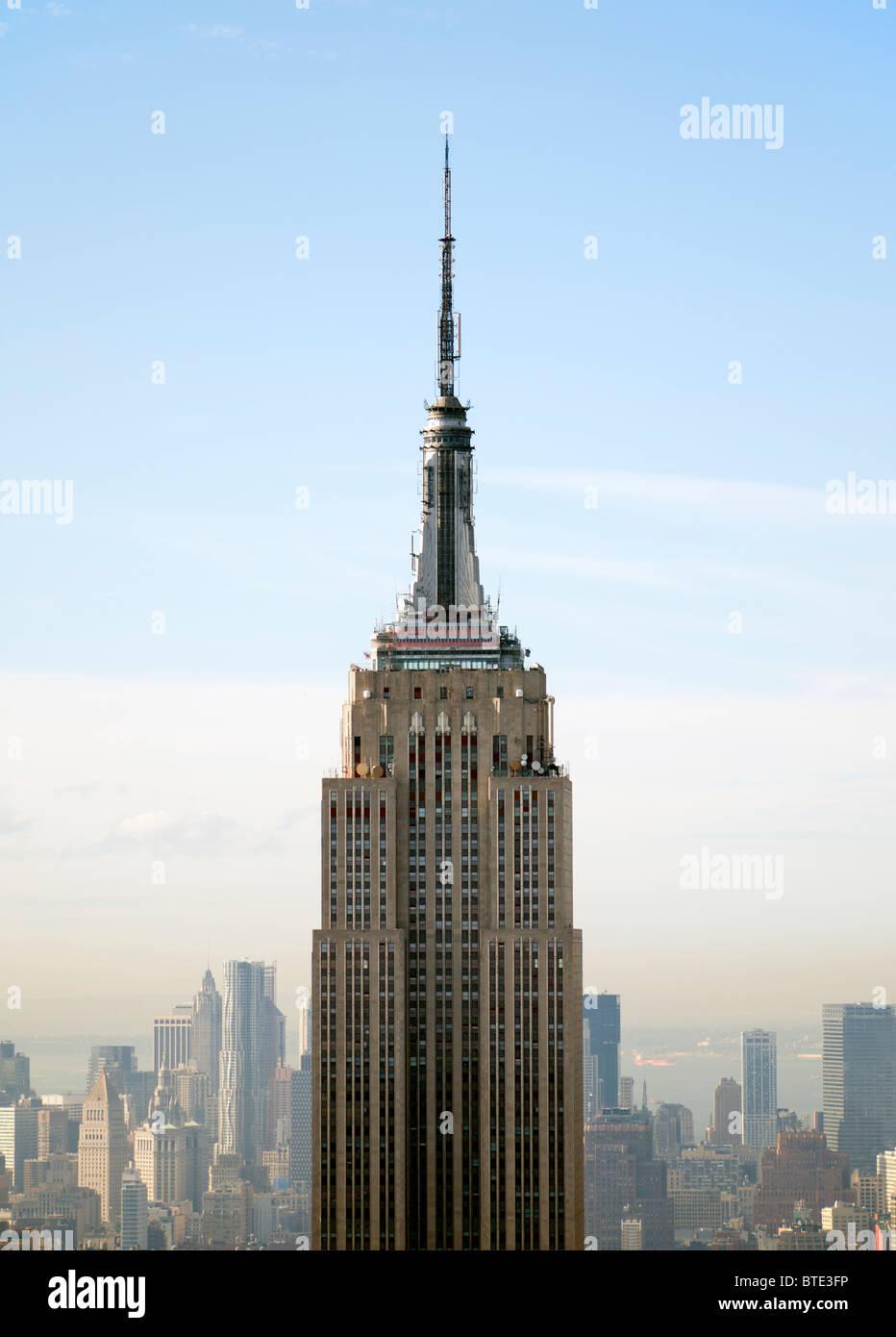Vue sur l'Empire State Building de Manhattan New York USA Photo Stock