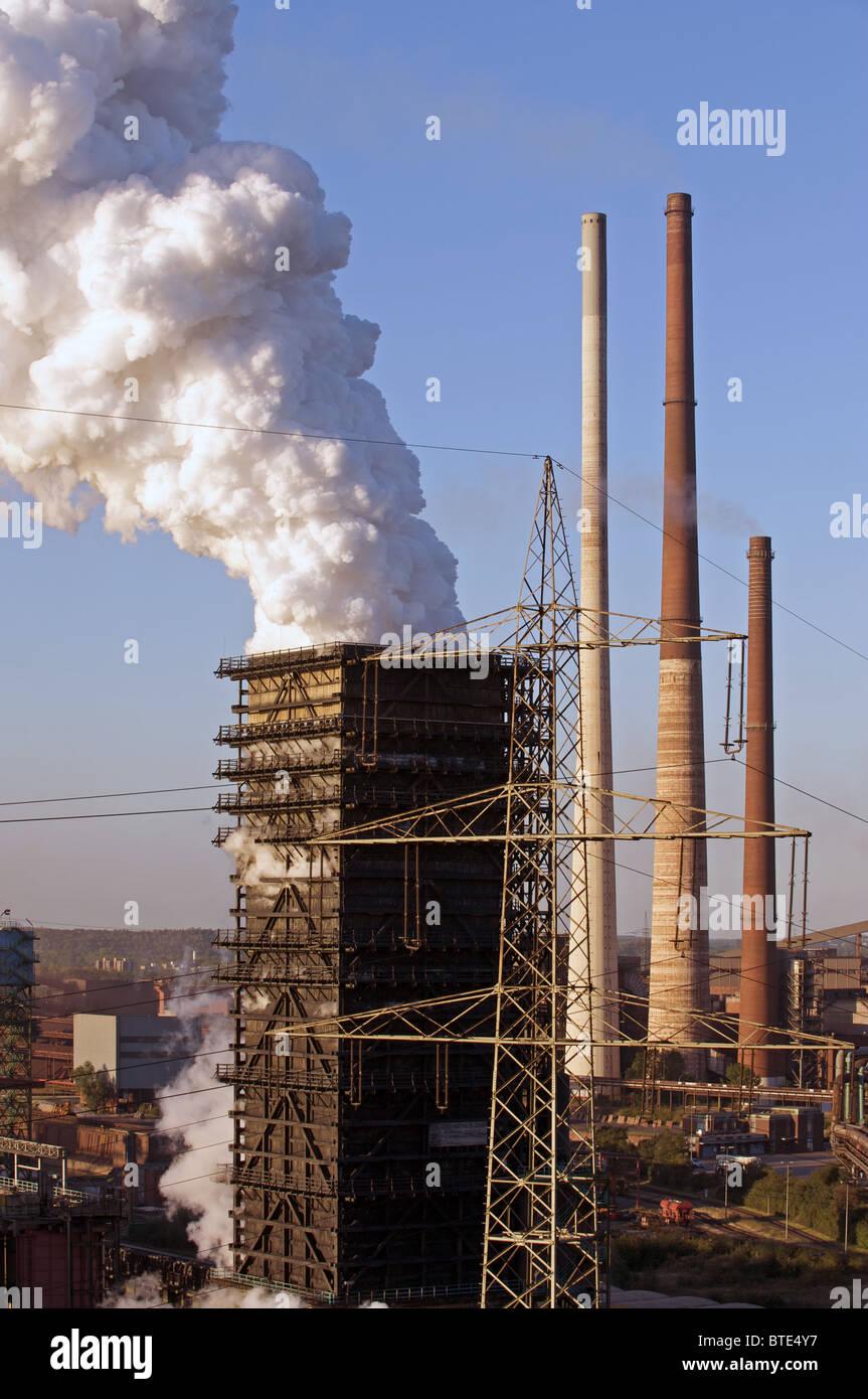 Blast furness, usine d'acier, de l'Allemagne. Photo Stock