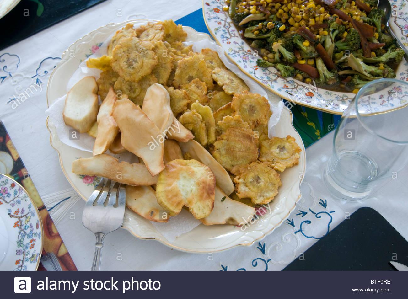 La Cuisine Haitienne Typique En Haiti Ile Des Caraibes Banque D