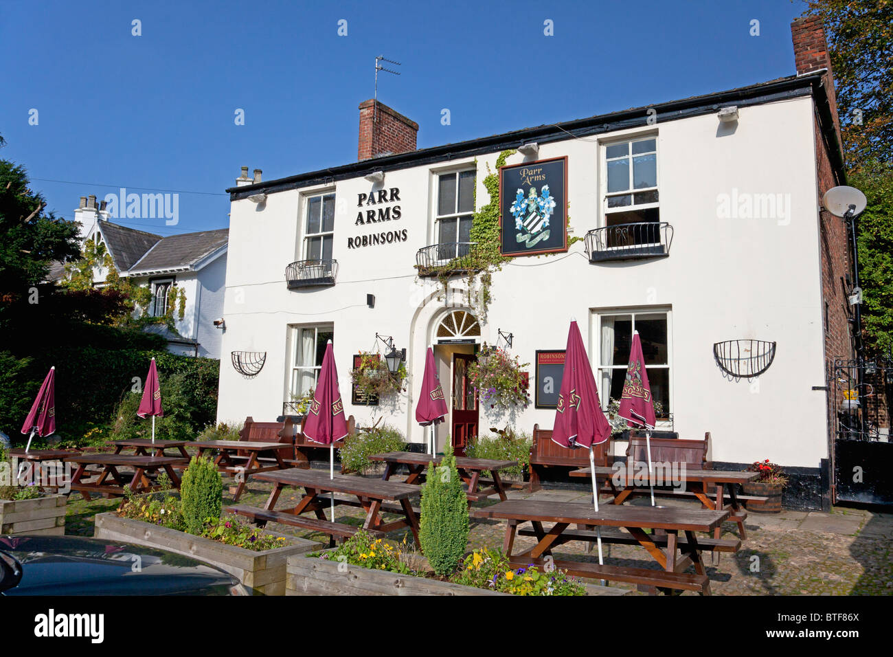 Le Parr Arms pub à Grappenhall, Cheshire Photo Stock