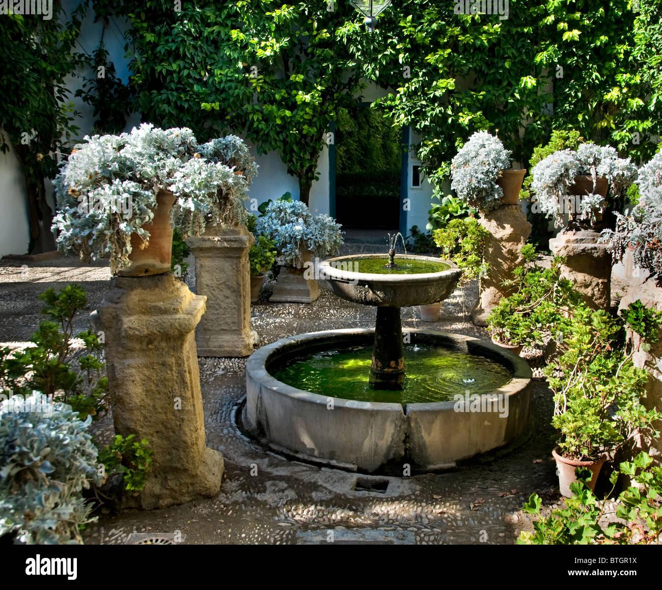 Espagne Cordoue patio ou sur la cour intérieure du Palais Palacio Marques de Viana Photo Stock