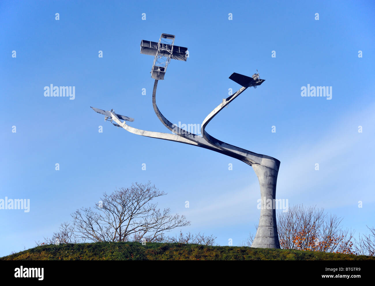 """Memorial l'esprit de vol'. Loch Lanark, Hyndford Street, Lanark, Lanarkshire, Écosse, Royaume-Uni, Europe. Banque D'Images"