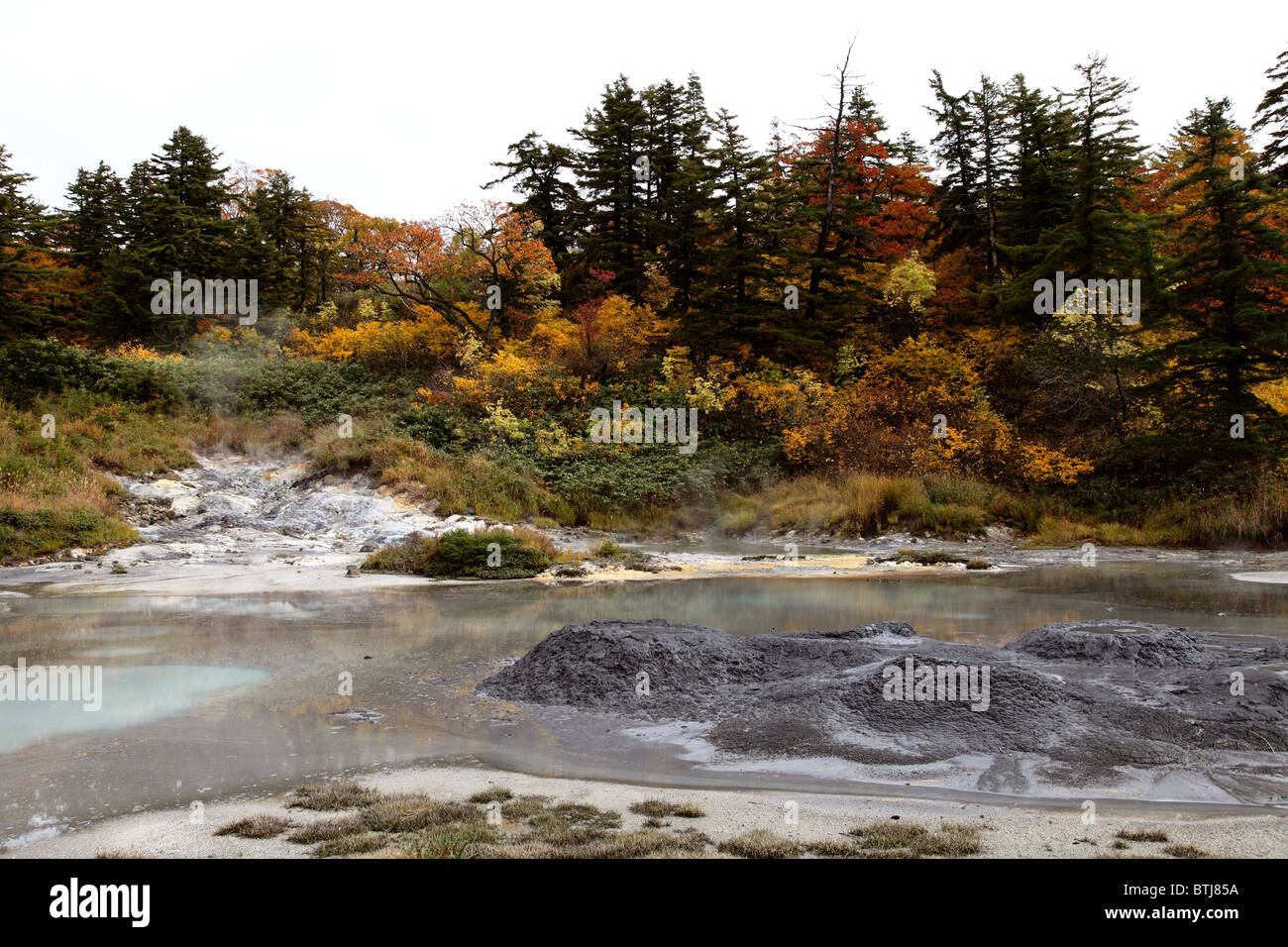 Goshogake Hot spring Japon Akita Photo Stock