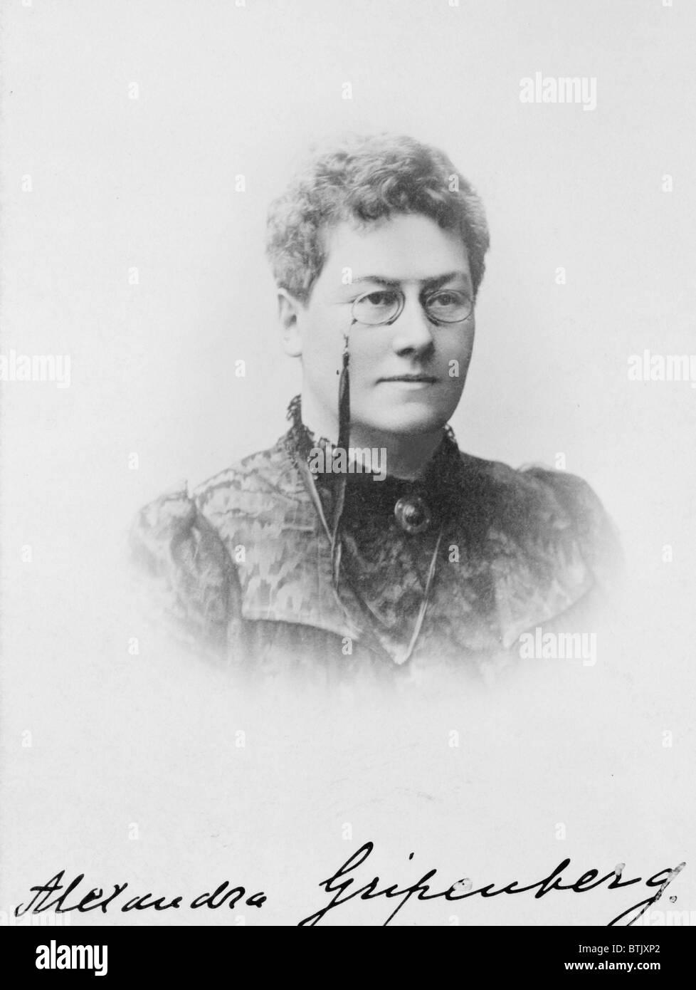 La Baronne Alexandra Gripenberg 1857 1913 Auteur Finlandais Et Feministe Carte Devisite 1890