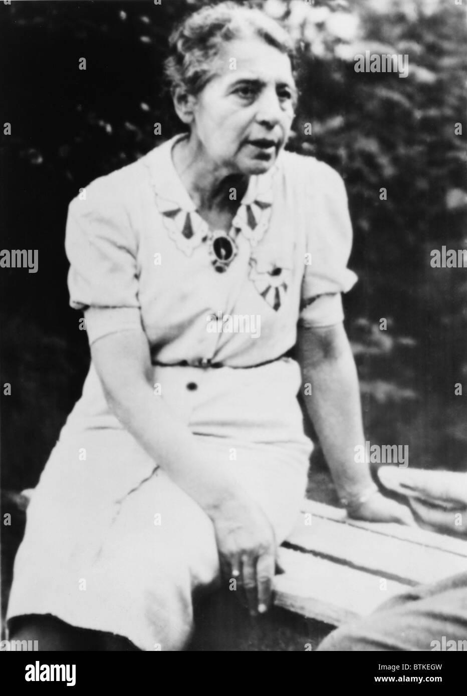 Le Dr Lize Meitner (1878-1968), dont la recherche scientifique autrichien avec Otto Hahn et Fritz Strassmann ont Photo Stock