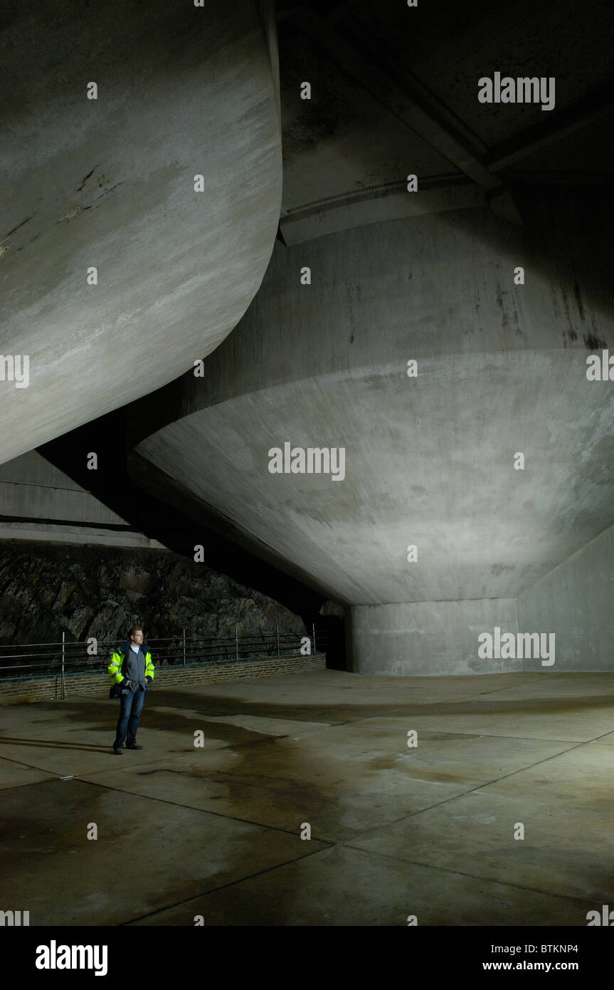 Une voûte souterraine, Esch-sur-Sûre, Luxembourg Photo Stock