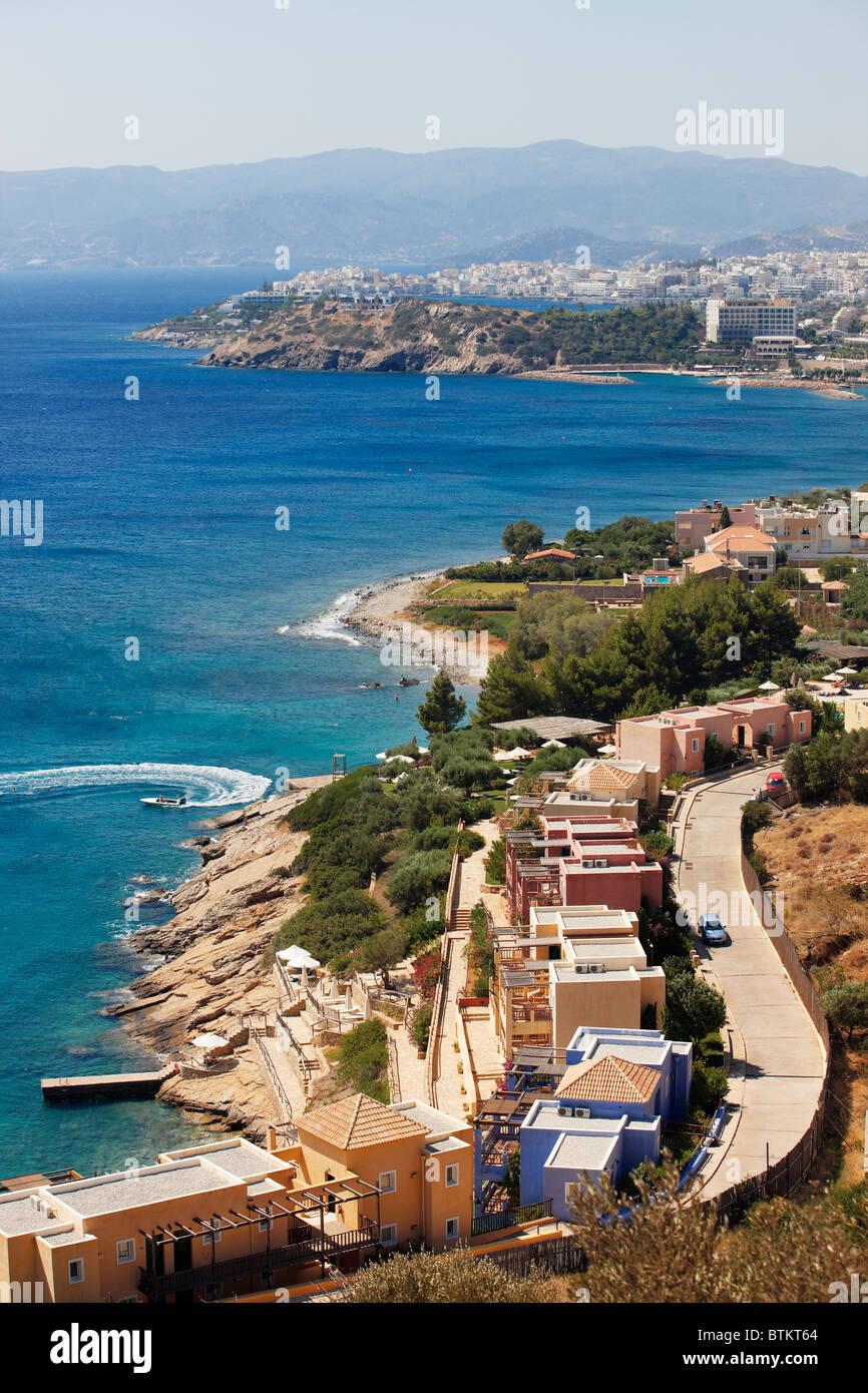 Agios Nikolaos, Crète, Grèce. Banque D'Images