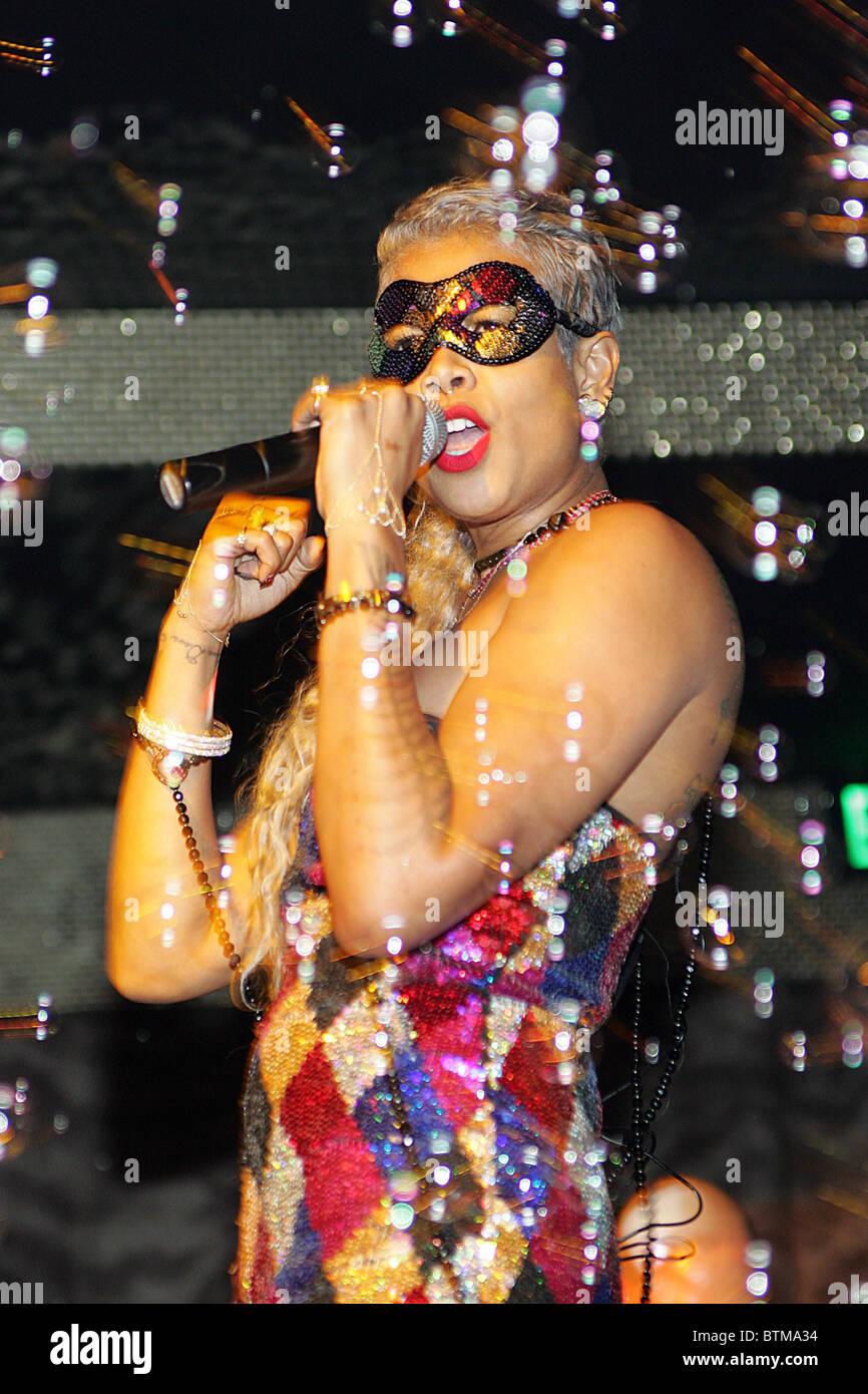 Kelis effectue nouveau single à Eve Nighclub Photo Stock