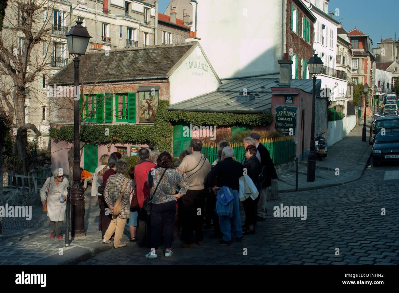 Paris, France, scène de rue, les gens se rendant sur butte Montmartre, Banque D'Images