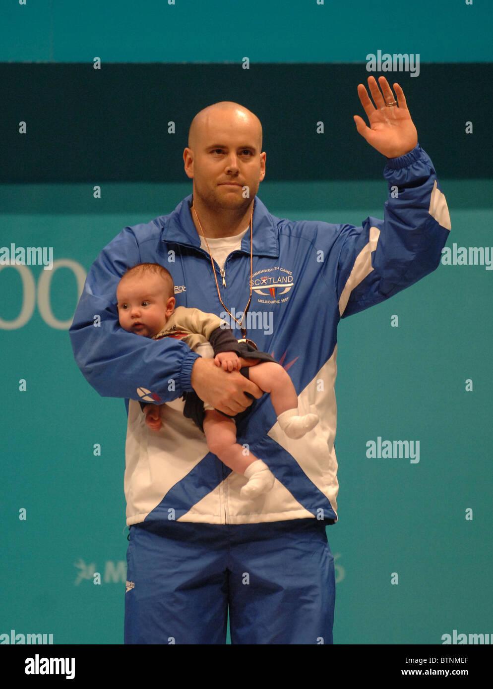 Tommy Yule remporte le bronze aux Jeux du Commonwealth de Melbourne, Australie Banque D'Images