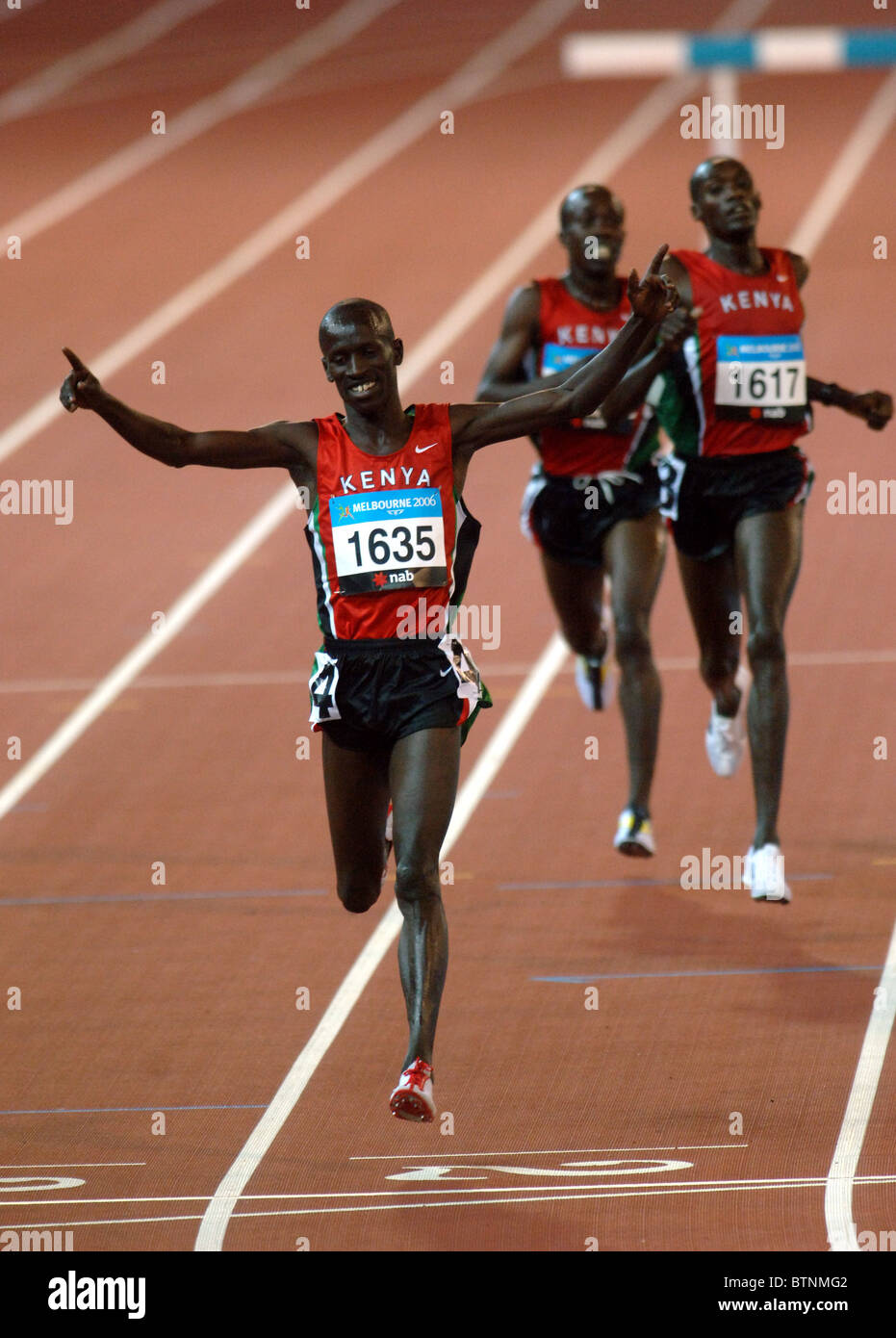 Les sprinters du Kenya Banque D'Images