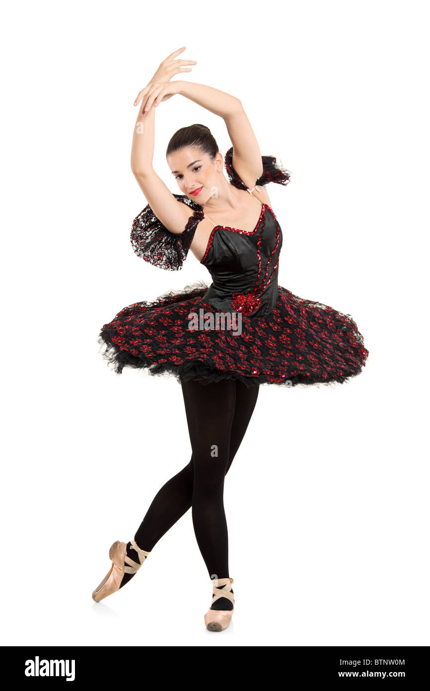 Portrait d'une danseuse ballerine faisant un ballet posing Photo Stock