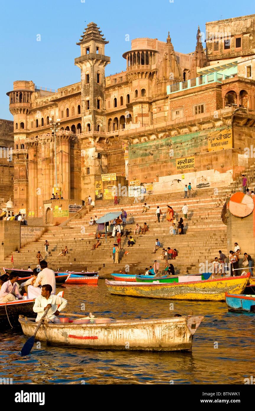 Ghats, Varanasi, Uttar Pradesh, Inde Photo Stock