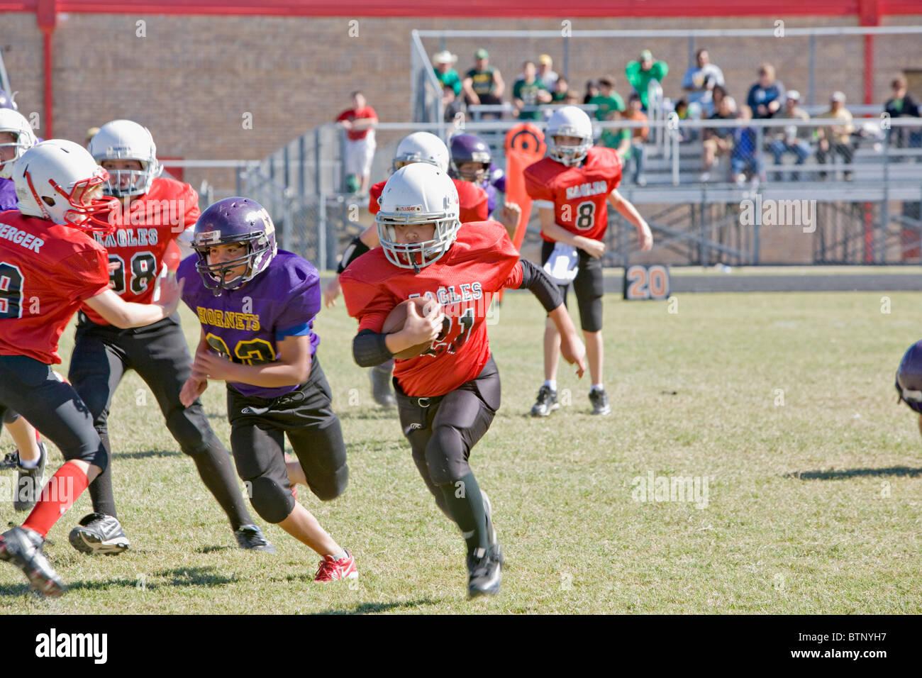 Football américain de la Jeunesse Photo Stock