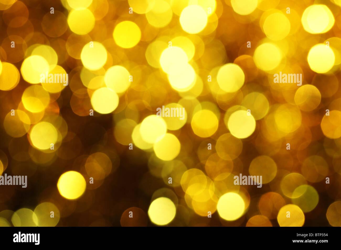 Résumé Les lumières de Noël en arrière-plan Photo Stock