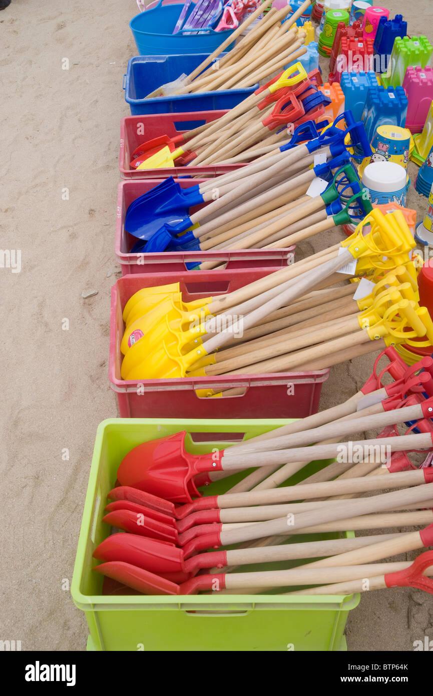 Des jouets de plage, Newquay, Royaume-Uni. Photo Stock
