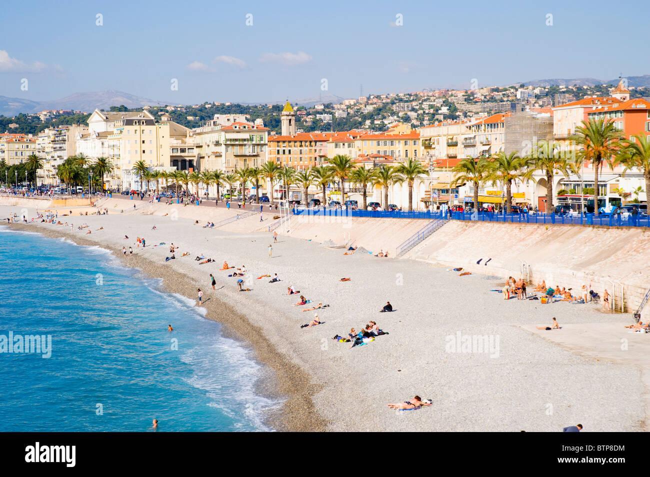 Promenade d'Anglais, Nice, Côte d'Azur, France Photo Stock