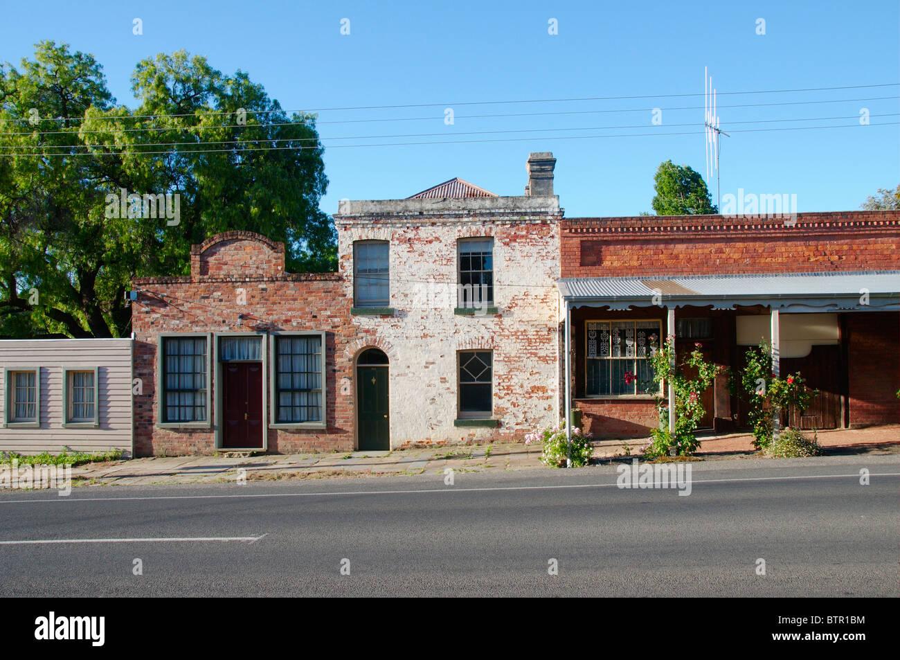 L'Australie, le Centre de Victoria, le Chewton, vue de l'ancienne boulangerie près de road Photo Stock