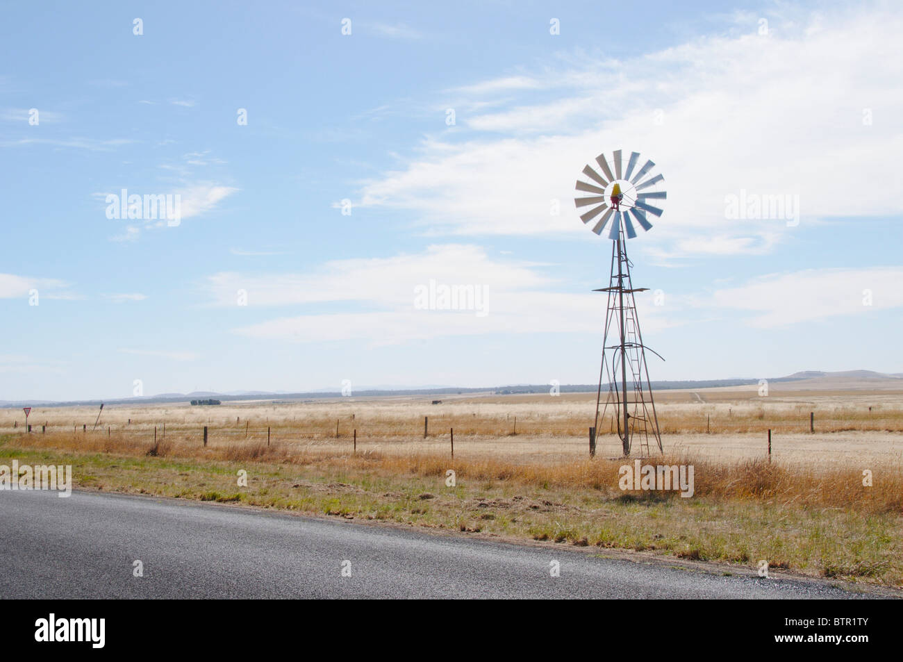 L'Australie, le Centre de Victoria, Glengower, Wind turbine Photo Stock