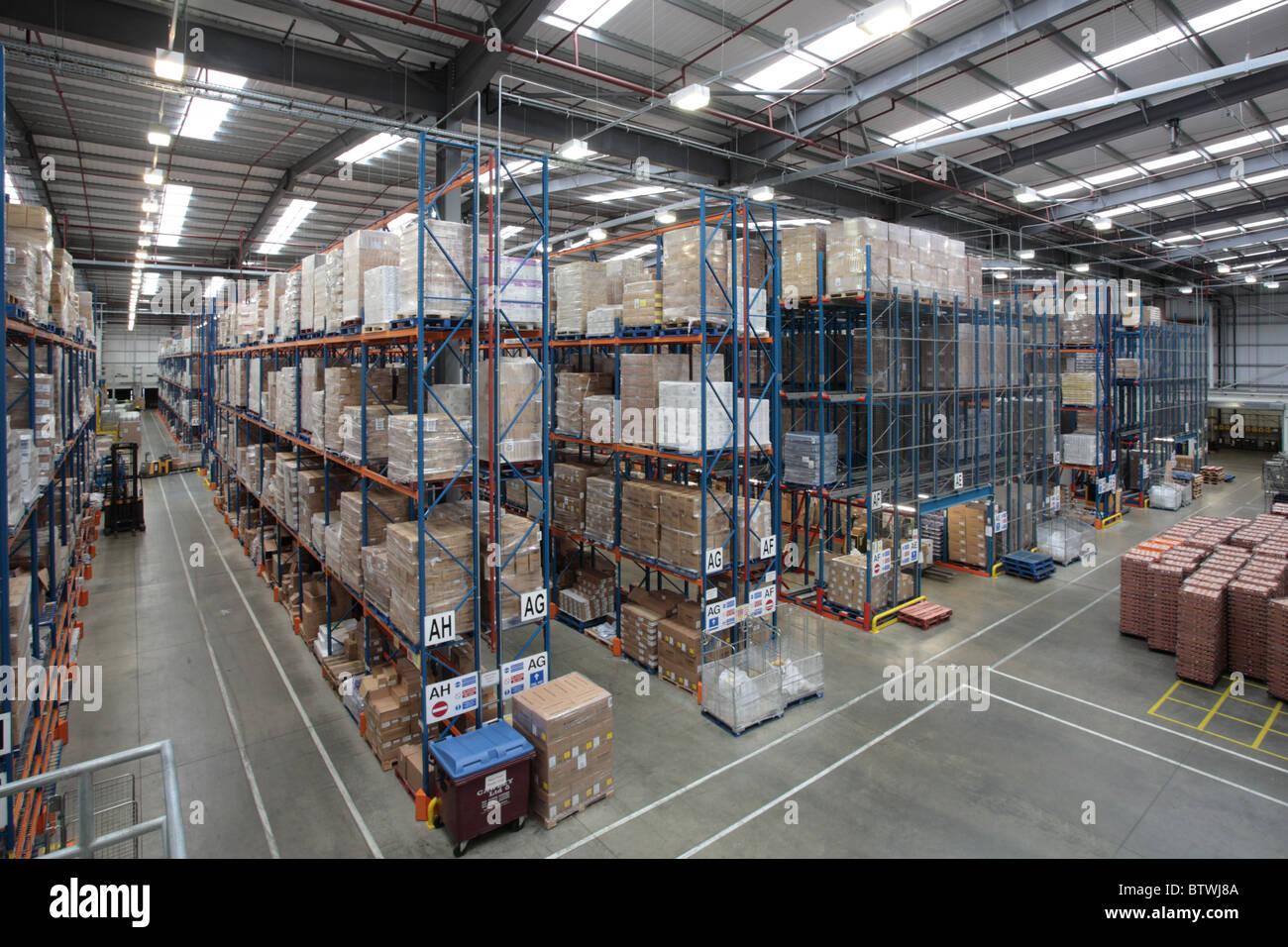 Entrepôt de distribution Photo Stock