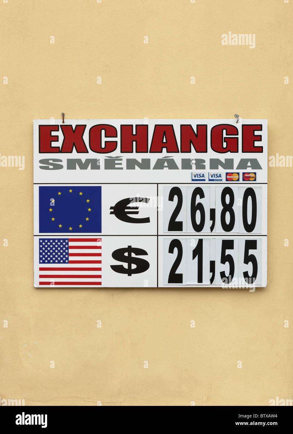 Forign conseil de taux de Prague République Tchèque Europe Photo Stock
