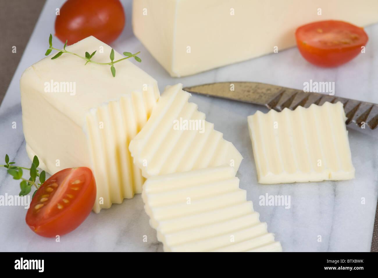 Beurre décorées Photo Stock