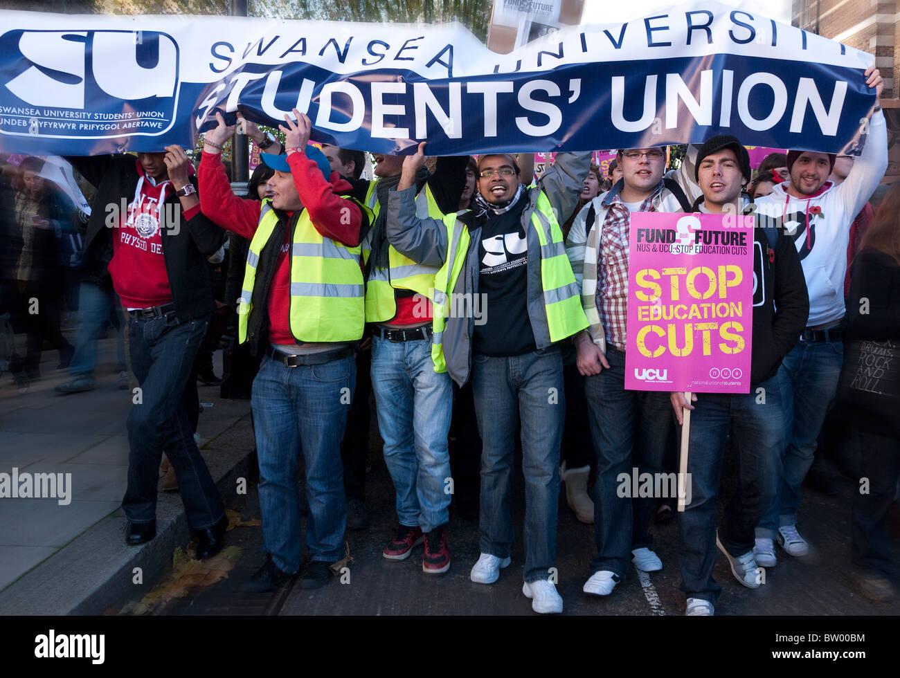 Les frais d'éducation de Londres de démo Photo Stock