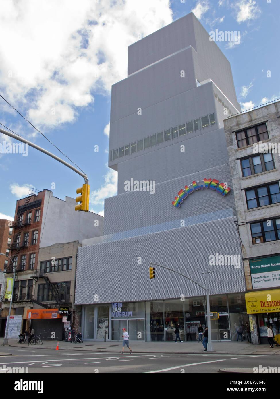 L'extérieur du nouveau musée d'Art Contemporain de Manhattan New York USA Photo Stock