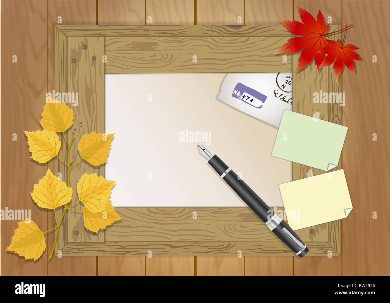 L'automne dans l'air illustraion Photo Stock