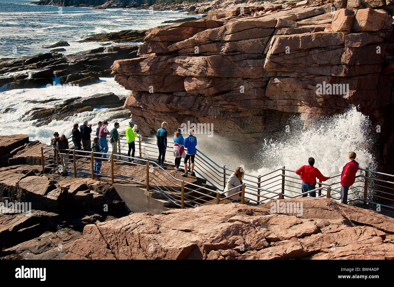 Thunder hole, acadia np, Maine, États-Unis Photo Stock