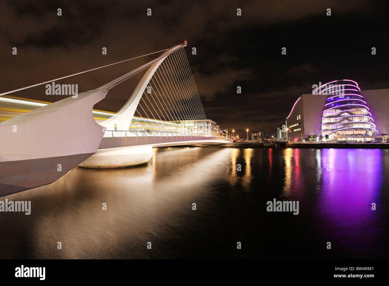 Samuel Beckett Bridge, Dublin . Banque D'Images