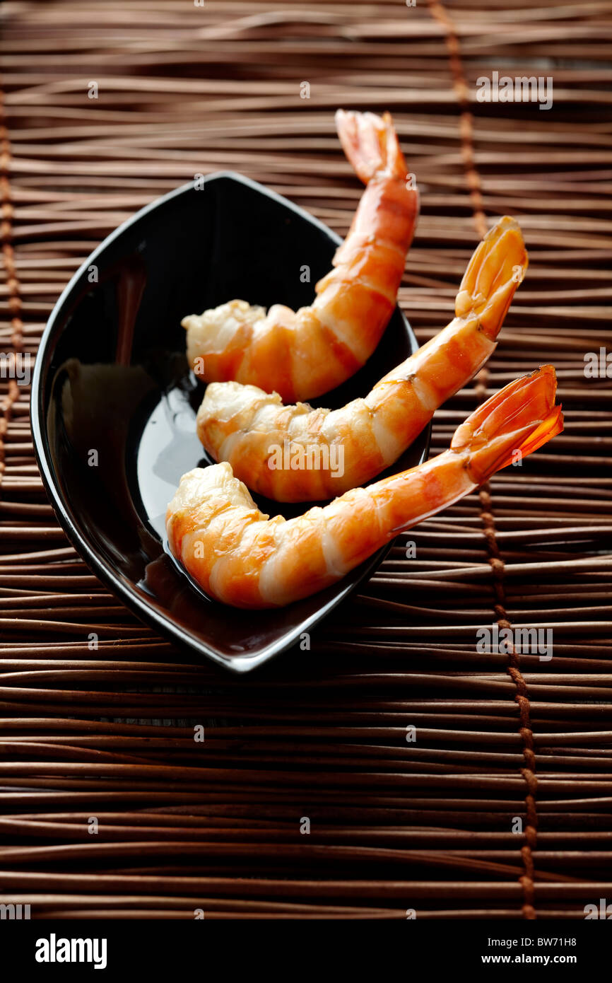 crevettes roses Photo Stock