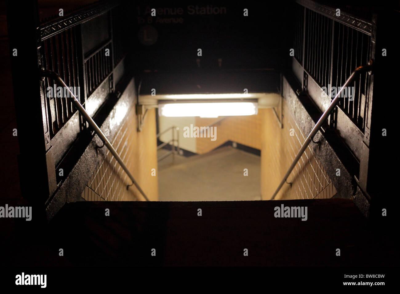Sortie entrée du métro Photo Stock