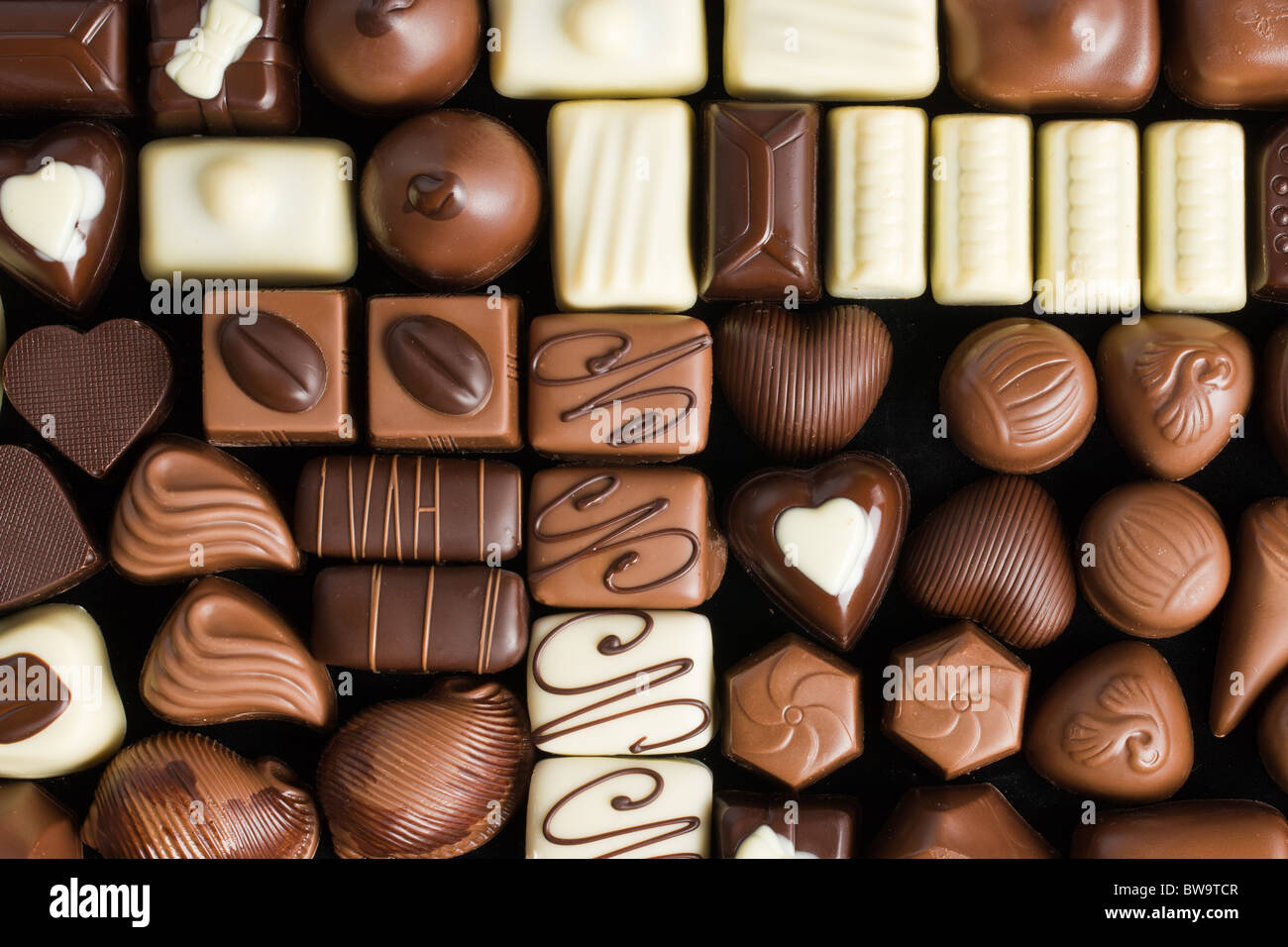 Chocolat pralines divers Photo Stock