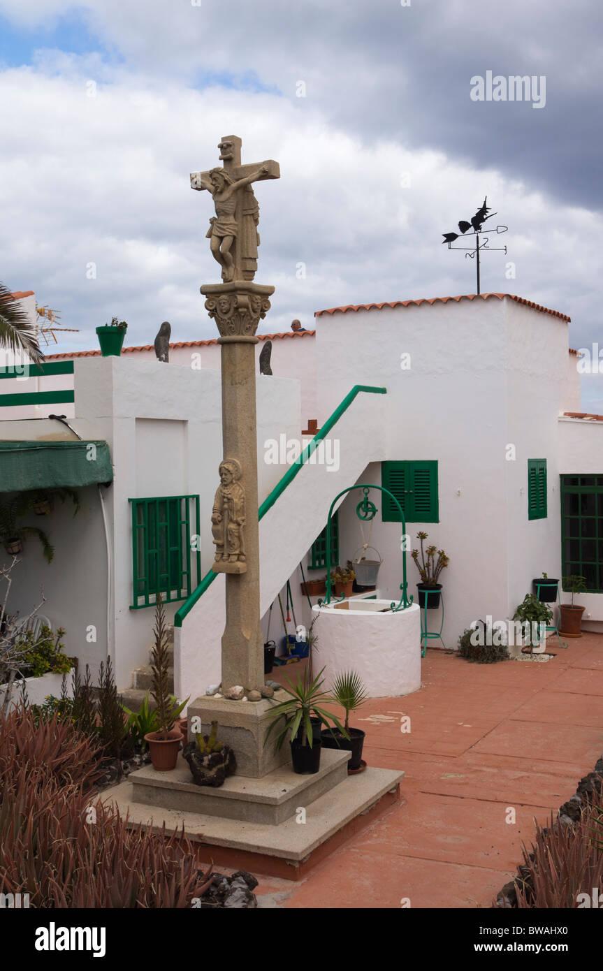 Fuerteventura Iles Canaries Corralejo Maison Avec Croix En