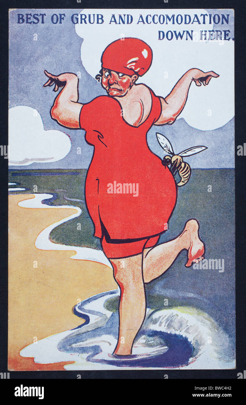 Carte postale mer grivois Photo Stock